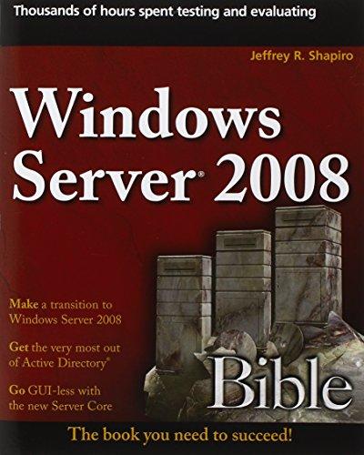 9780470170694: Windows Server 2008 Bible
