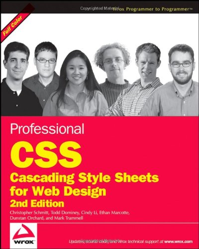 9780470177082: Professional CSS: Cascading Style Sheets for Web Design (Wrox Professional Guides)