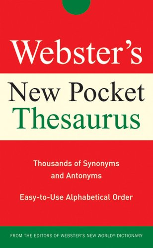 9780470177679: Webster's New Pocket Thesaurus