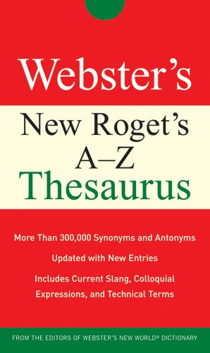9780470177693: Webster's New Roget's A-Z Thesaurus (Custom)