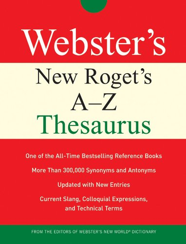 9780470177761: Webster's New Roget's A-Z Thesaurus