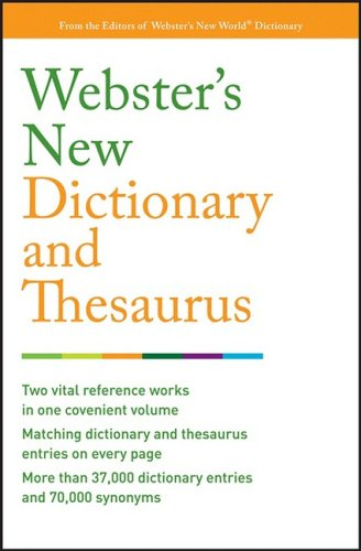 9780470177884: Webster's New Dictionary and Thesaurus (Custom)