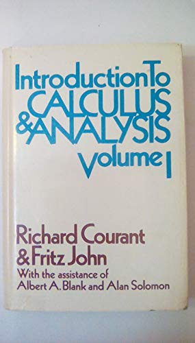9780470178607: Introduction to Calculus and Analysis: v. 1
