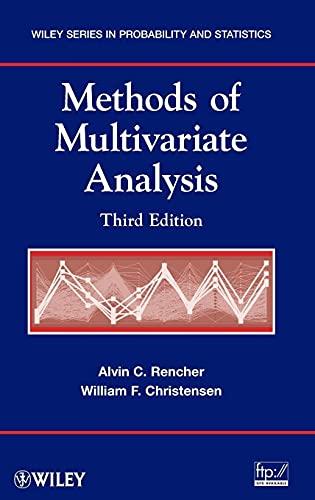 Methods of Multivariate Analysis: Christensen, William F.,