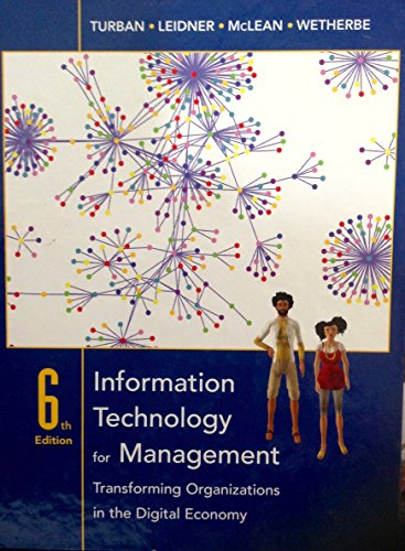 9780470180419: Information Technology for Management: WITH Wiley Plus: Transforming Organizations in the Digital Economy