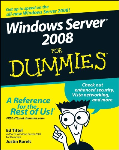 9780470180433: Windows Server 2008 for Dummies