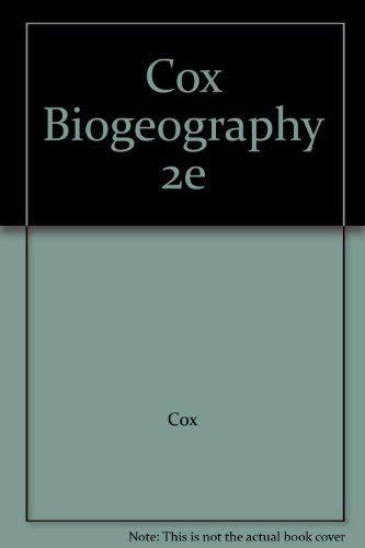 9780470181317: Cox Biogeography 2e