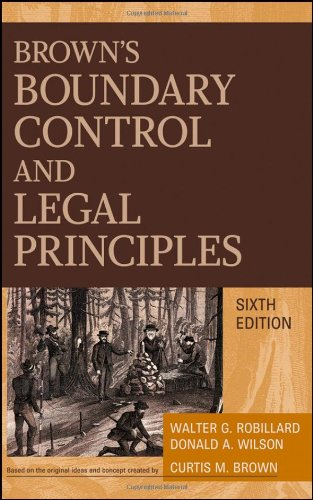 9780470183540: Brown's Boundary Control and Legal Principles, 6th Edition