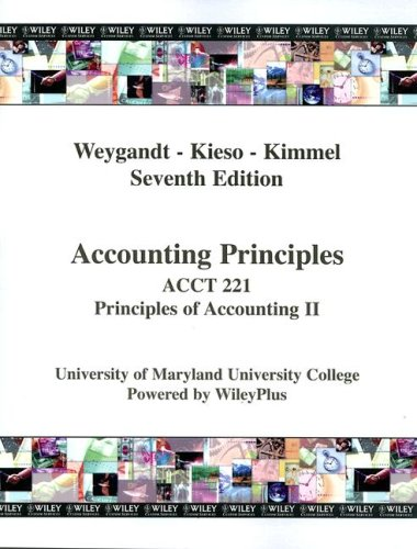 9780470183823: Accounting Principles, Acct 221 Principles of Accounting II