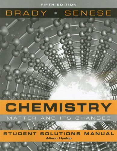 9780470184653: Student Solutions Manual to accompany Chemistry: The Study of Matter and Its Changes, Fifth Edition
