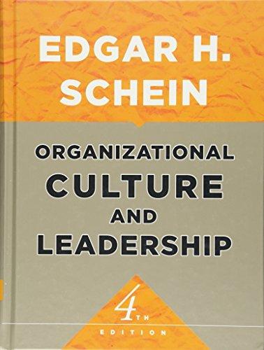 9780470185865: Organizational Culture and Leadership