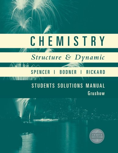 9780470185919: Chemistry, Student Solutions Manual: Structure and Dynamics
