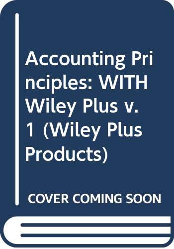 9780470185971: Accounting Principles (Wiley Plus Products) (v. 1)