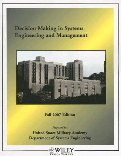 9780470190456: Decision Making in Systems Engineering and Management