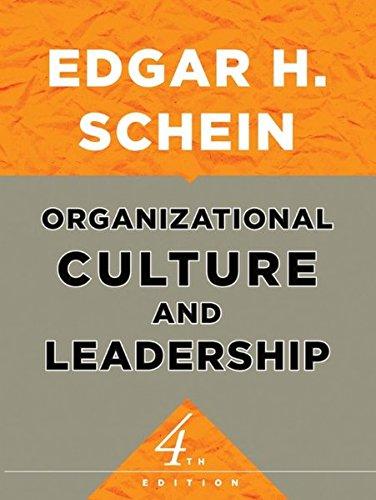 9780470190609: Organizational Culture and Leadership