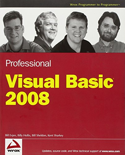 9780470191361: Professional Visual Basic 2008 (Programmer to Programmer)