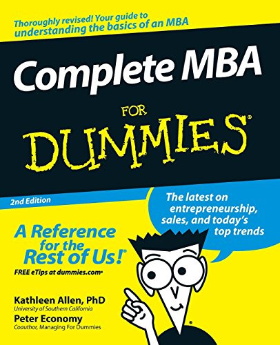 9780470194294: Complete MBA For Dummies