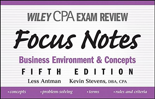 9780470195611: Wiley CPA Examination Review Focus Notes: Business Environment and Concepts