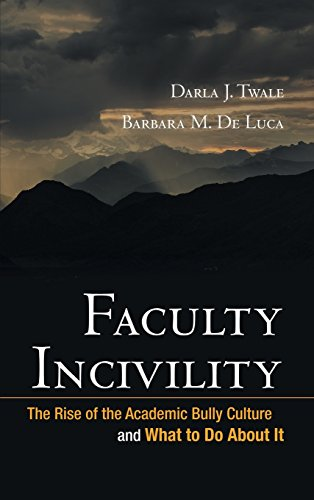 9780470197660: Faculty Incivility: The Rise of the Academic Bully Culture and What to Do about It (JB-Anker)