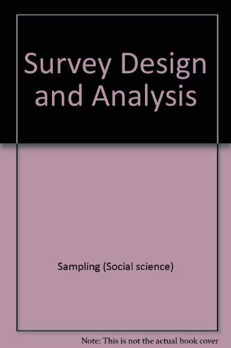 9780470202722: Survey Design and Analysis