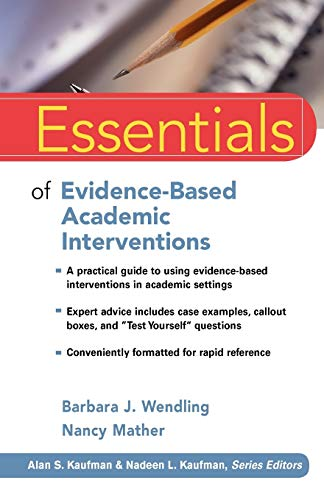 9780470206324: Essentials of Evidence-Based Academic Interventions
