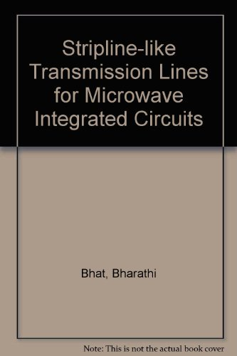 9780470207000: Stripline-Like Transmission Lines for Microwave Integrated Circuits