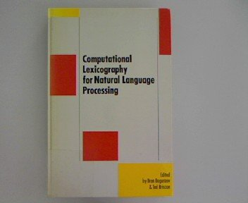 9780470211878: Computational Lexicography for Natural Language Processing