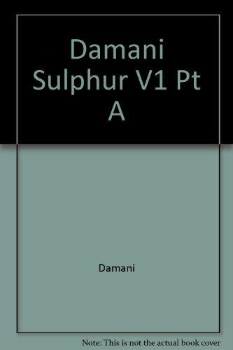 9780470212578: Damani Sulphur V1 Pt A (Ellis Horwood series in biochemical pharmacology)