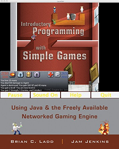9780470212844: Introductory Programming with Simple Games: Using Java and the Freely Available Networked Game Engine
