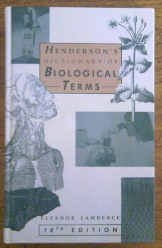 9780470214466: Henderson's Dictionary of Biological Terms