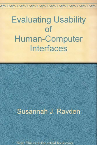 9780470214961: Evaluating usability of human-computer interfaces: A practical method (Ellis Horwood books in information technology)
