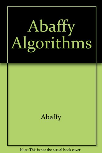 9780470215074: Abaffy Algorithms (Ellis Horwood Series in Mathematics and Its Applications)