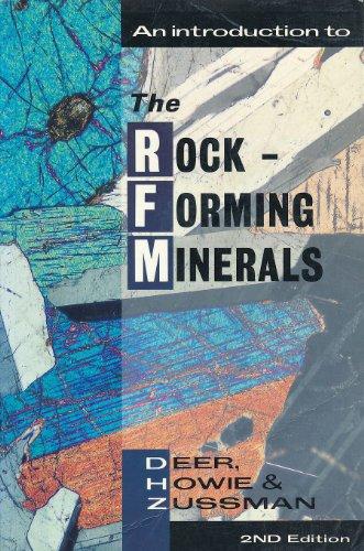 rock forming minerals deer howie zussman