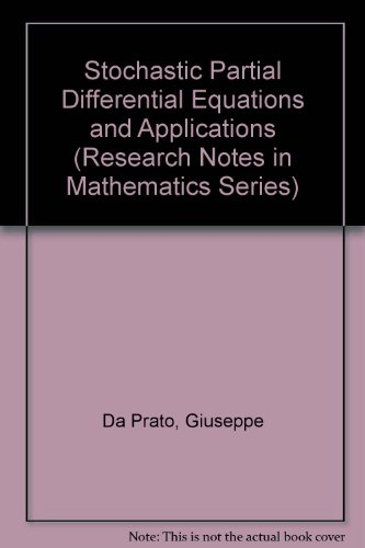 9780470219676: Stochastic Partial Differential Equations and Applications (Research Notes in Mathematics Series)