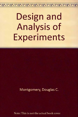 9780470225998: Design and Analysis of Experiments, Set