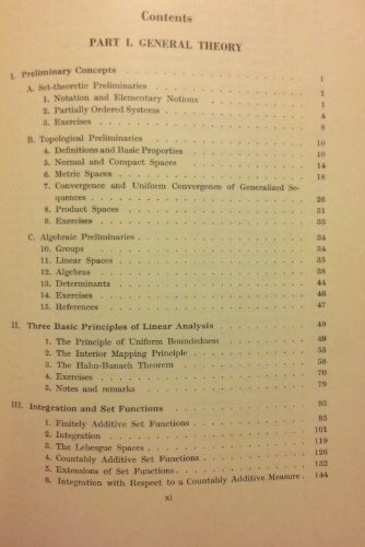 9780470226056: Linear Operators, Part 1: General Theory (Pure and Applied Mathematics, Vol. 7)