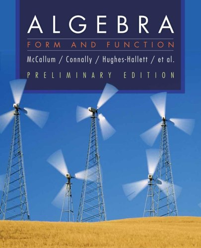 9780470226667: Algebra: Form and Function