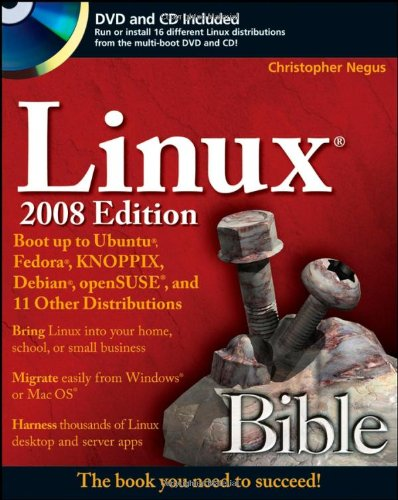9780470230190: Linux Bible: Boot Up to Uduntu, Fedora, KNOPPIX< Debian, openSUSE, and 11 Other Distributions