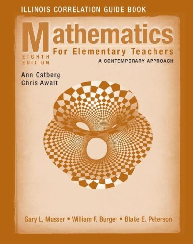 9780470231715: Mathematics for Elementary Teachers, Illinois Correlation Guide Book: A Contemporary Approach
