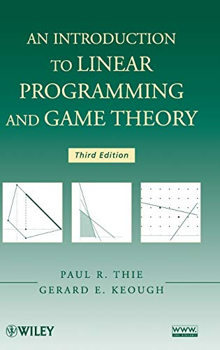 9780470232866: Linear Programming and Game Theory 3e