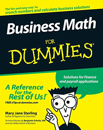 9780470233313: Business Math for Dummies