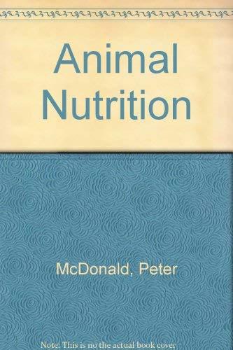 9780470234884: Animal Nutrition