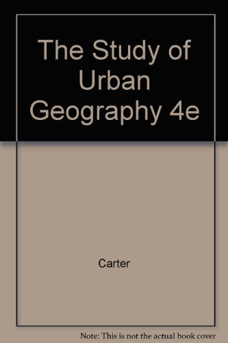 9780470235348: The Study of Urban Geography