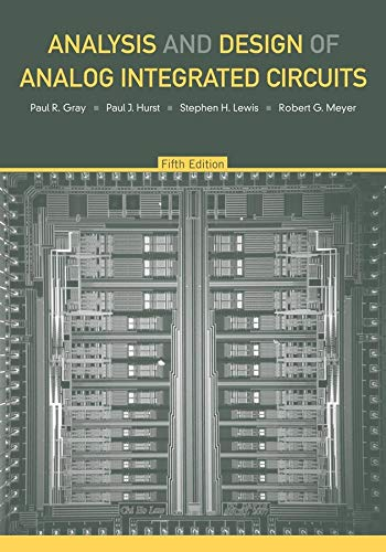 9780470245996: Analysis and Design of Analog Integrated Circuits, 5th Edition