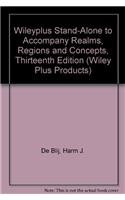 9780470251348: Wileyplus Stand-Alone to Accompany Realms, Regions and Concepts, Thirteenth Edition (Wiley Plus Prod
