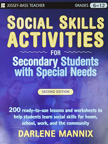 9780470259368: Social Skills Activities for Secondary Students with Special Needs