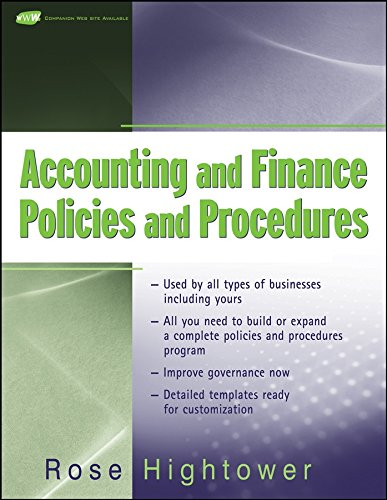 9780470259627: Accounting and Finance Policies and Procedures, (with URL)