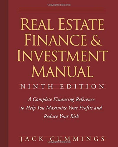 9780470260401: Real Estate Finance and Investment Manual, 9 edition
