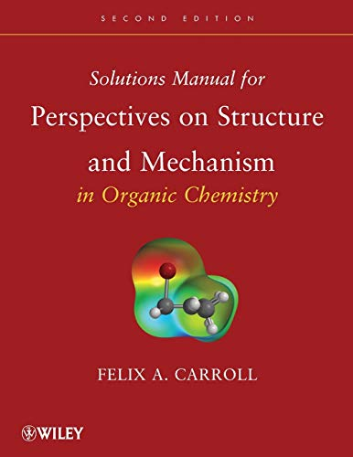 9780470261156: Solutions Manual for Perspectives on Structure and Mechanism in Organic Chemistry
