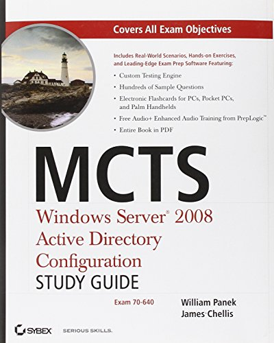 9780470261675: MCTS Windows Server 2008 Active Directory Configuration Study Guide: Exam 70-640
